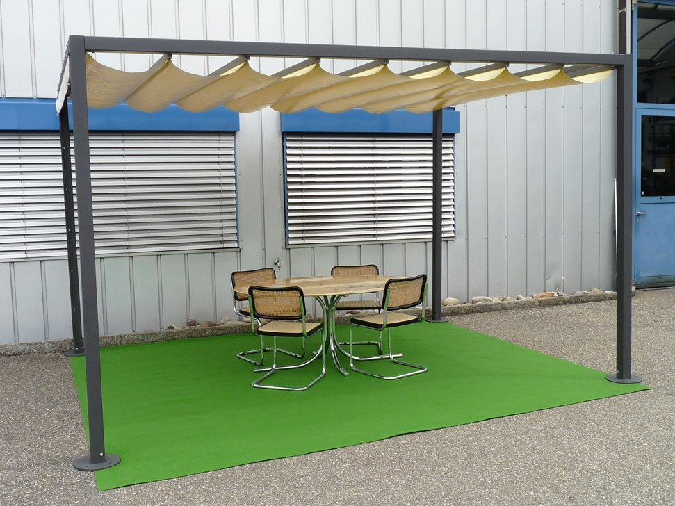 illustration pergola 5x5m