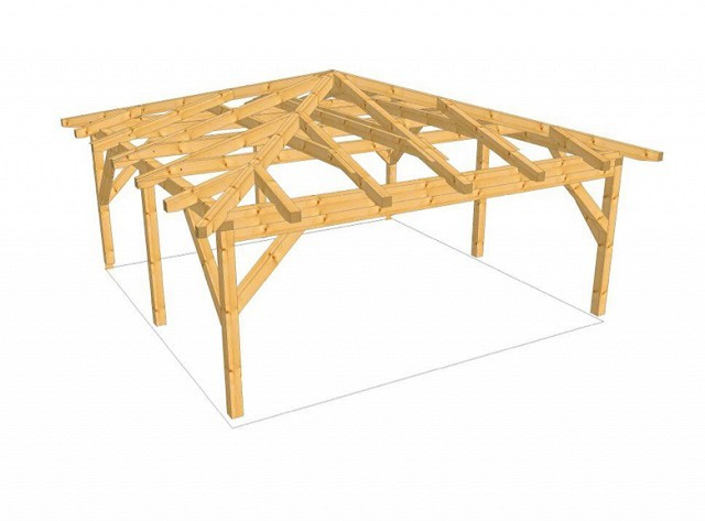 visualiser pergola 5x5m
