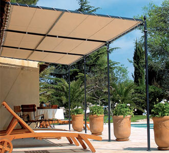 exemple pergola demontable