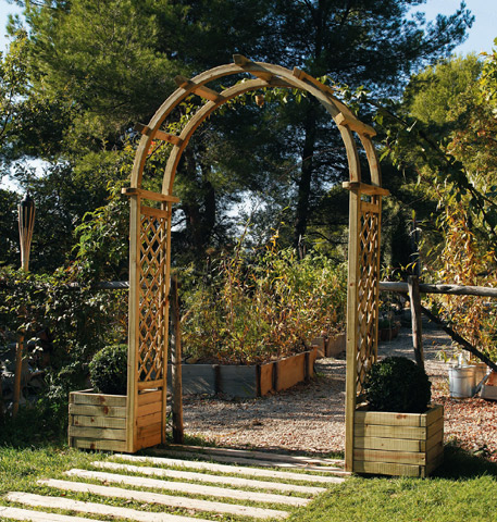 pergola double arc ma pergola. Black Bedroom Furniture Sets. Home Design Ideas