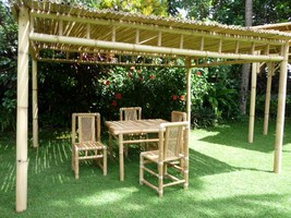 visualiser pergola en bambou