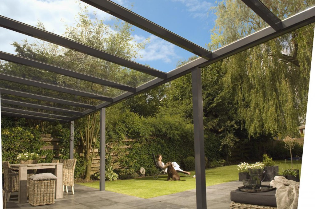 illustration pergola en verre