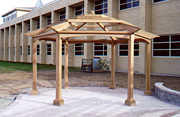 photo pergola hexagonale
