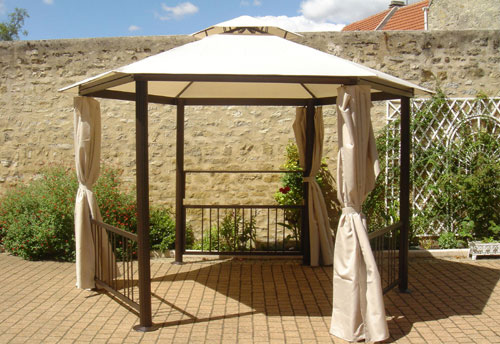 exemple pergola hexagonale