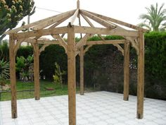 photographie pergola hexagonale