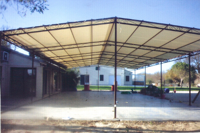 photo pergola industrielle