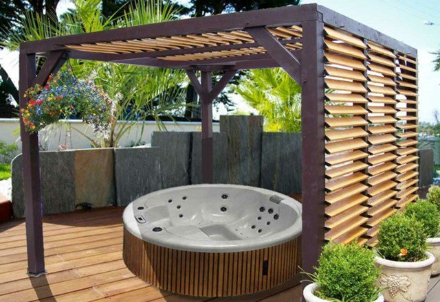 pergola jacuzzi ma pergola. Black Bedroom Furniture Sets. Home Design Ideas