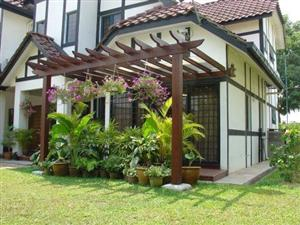 photo pergola jardin