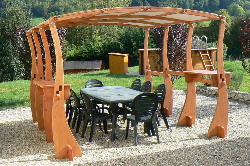 Pergola jardin bois ma pergola for Photo pergola bois