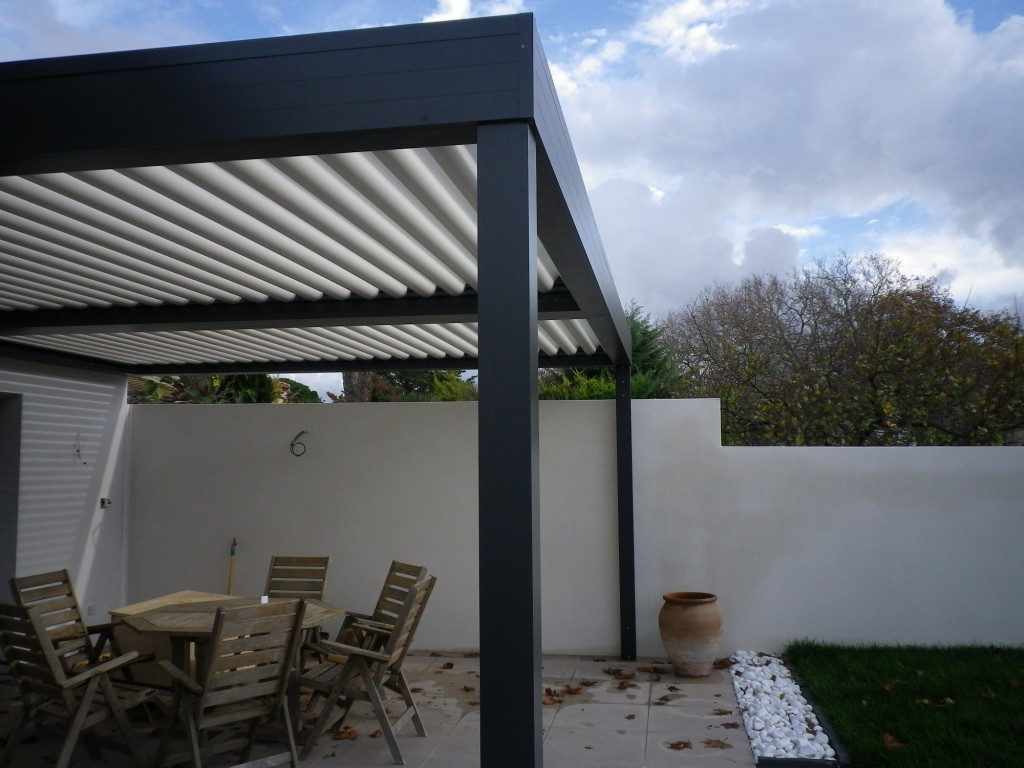 exemple pergola lame orientable