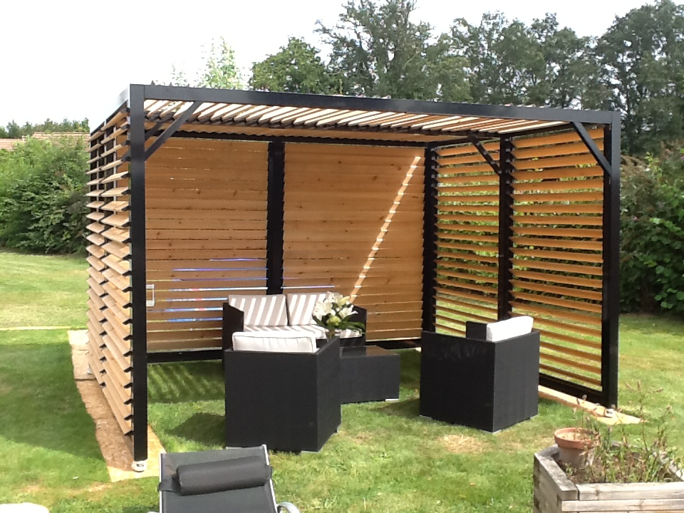 pergola lames orientables kit ma pergola. Black Bedroom Furniture Sets. Home Design Ideas