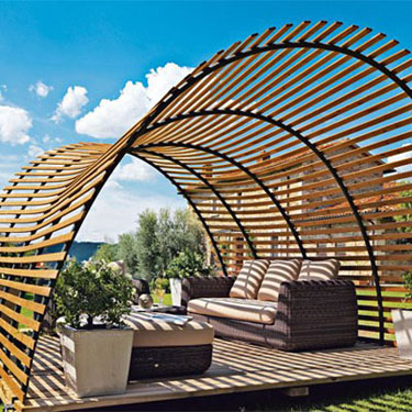photographie pergola originale