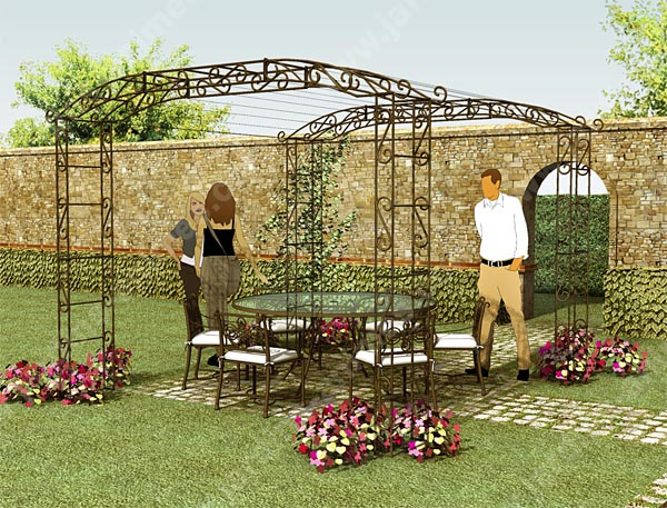 pergola pour rosier grimpant ma pergola. Black Bedroom Furniture Sets. Home Design Ideas