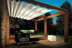illustration pergola retractable