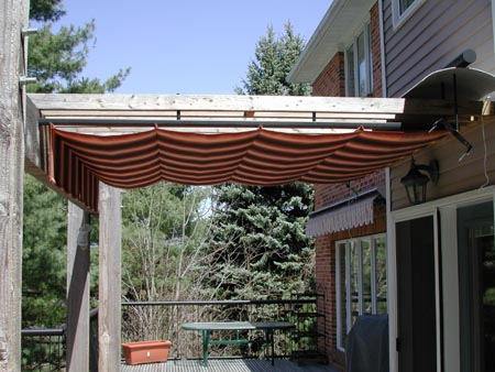 exemple pergola retractable