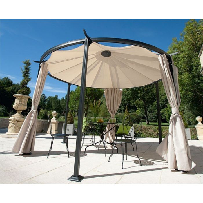 cheap modle pergola ronde with tonnelle bricomarch. Black Bedroom Furniture Sets. Home Design Ideas