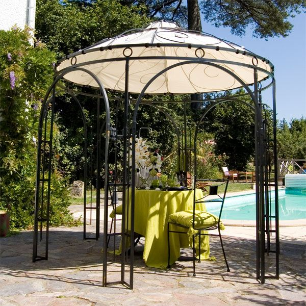 good exemple pergola ronde with tonnelle bricomarch. Black Bedroom Furniture Sets. Home Design Ideas