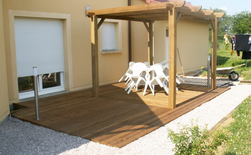 illustration pergola sur terrasse