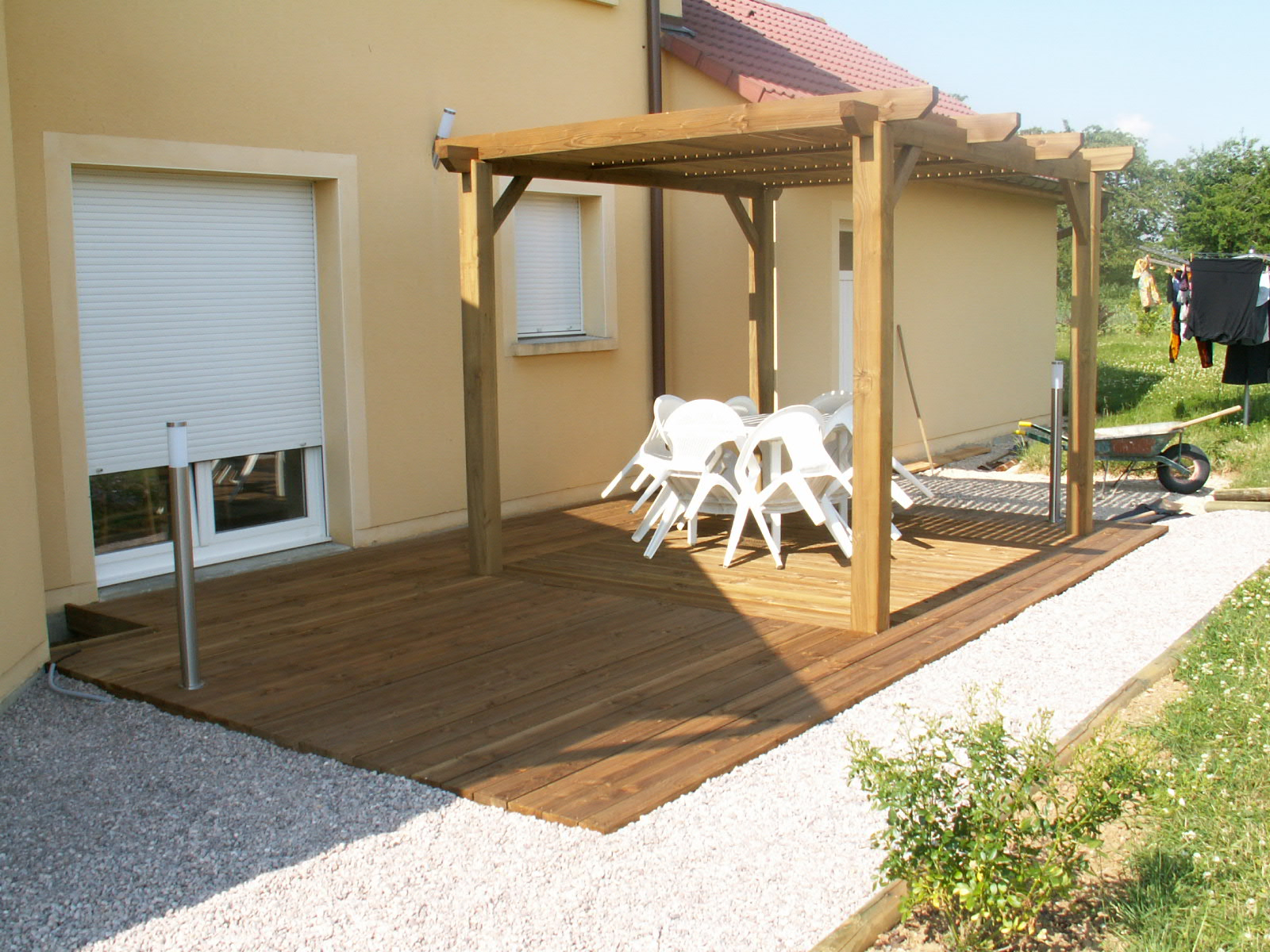 pergola sur terrasse ma pergola. Black Bedroom Furniture Sets. Home Design Ideas