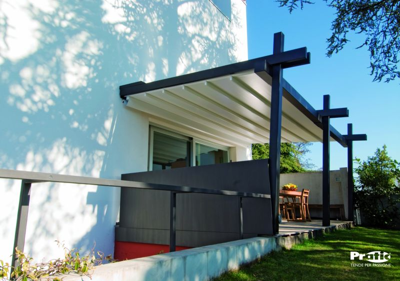 exemple pergola toile retractable