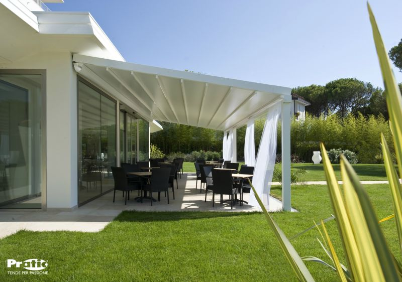 photographie pergola toile retractable